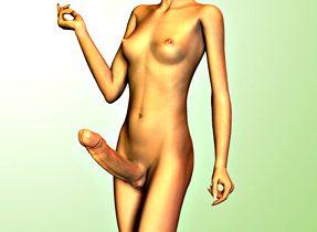 Skinny Toon Tranny With Big Dick