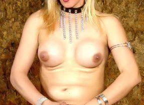 Blonde T-Girl Stockings Model