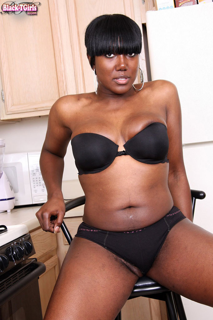 Kissable Black BBW Tgirl With Great Tits!