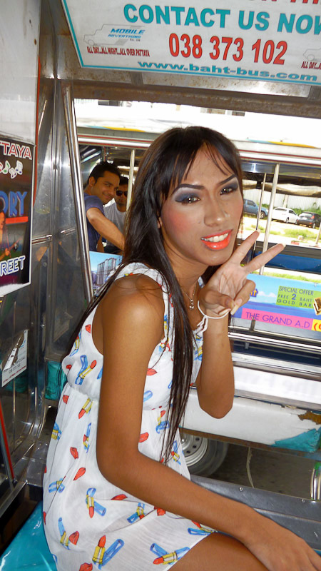Happy Pulls Out Her Uncut Tranny Dickclit In Taxi
