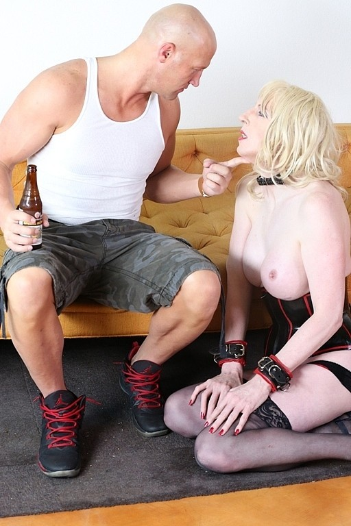 Master Christian Is Being Served By His Tall Blonde Massive Boob