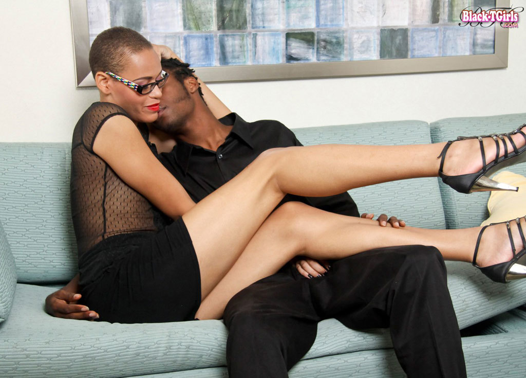 Innocent Bald T Girl Amber Skye With Glasses Blows A Mean Cock