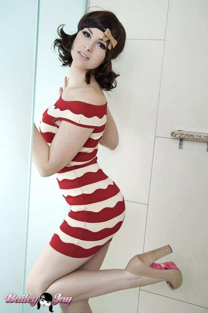 Sensuous In Flapper Dress