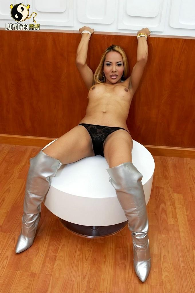 Sensuous Talisha In Silver Boots