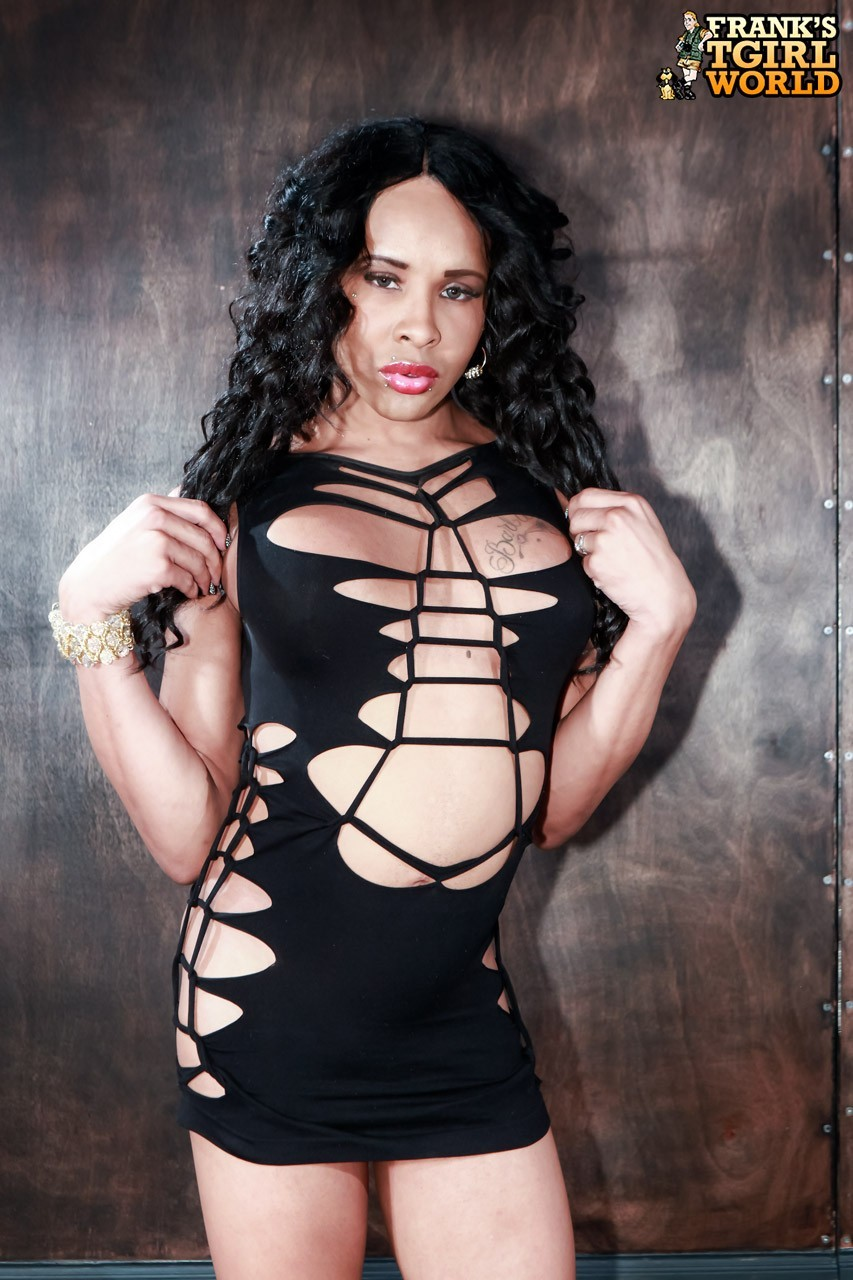Chyna Posing In Arousing Dress