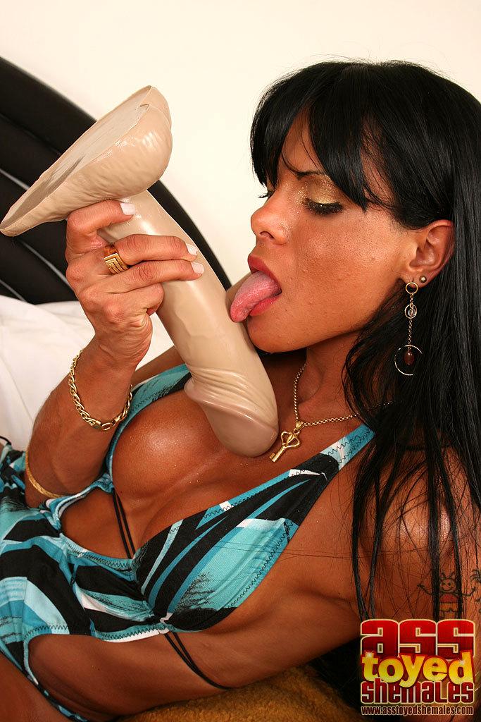 Brazilian Tgirl Gabriella Riding A Cucumber
