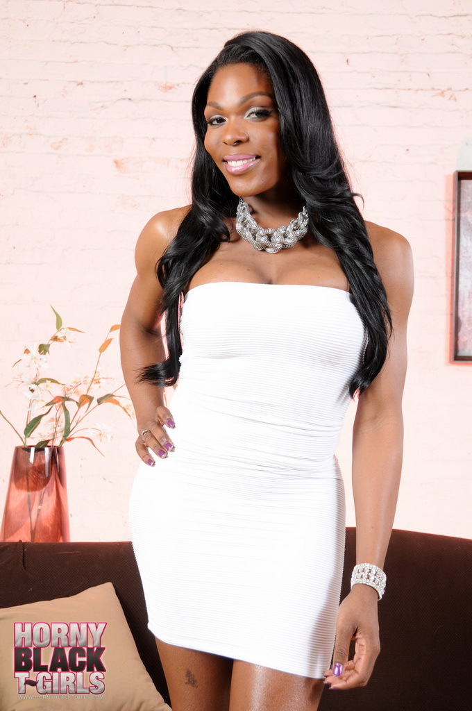 Super Attractive Ebony TS Gabriella Stripping